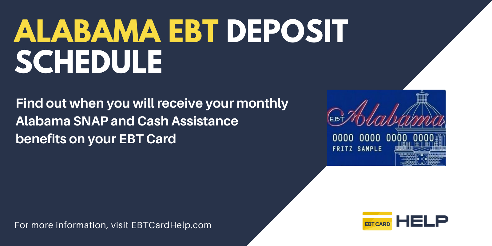 """""""Alabama EBT Deposit Schedule"""""""