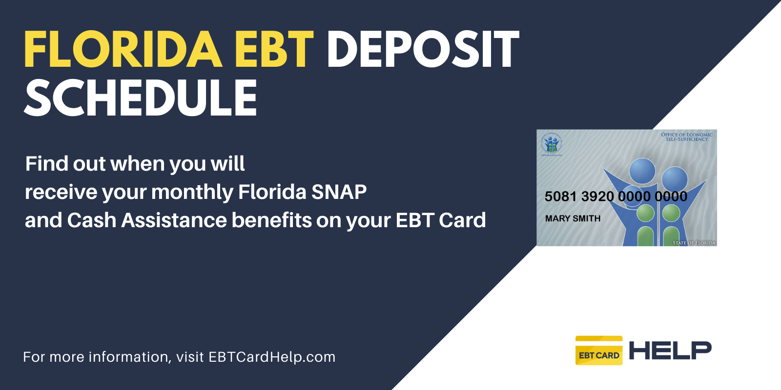"""""""Florida EBT Deposit Schedule"""""""