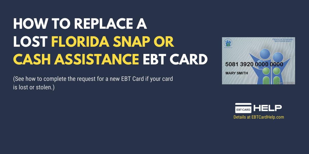 """Florida Food Stamps EBT Card Replacement Online"""