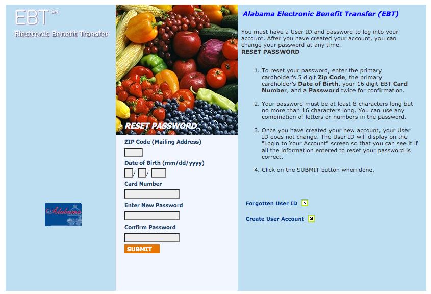 """""""How to Reset Alabama EBT Card Password"""""""