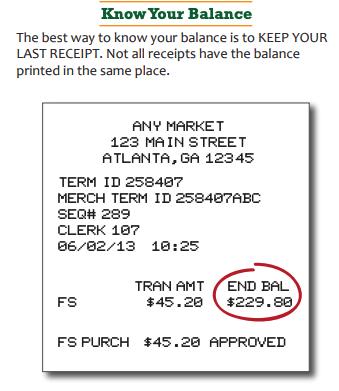 """Georgia EBT Card balance by receipt"""