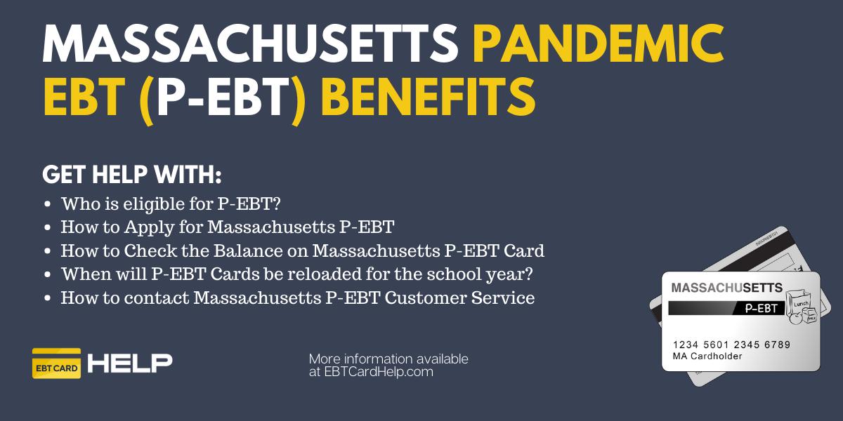 """Massachusetts P-EBT Application, Balance and Reload"""