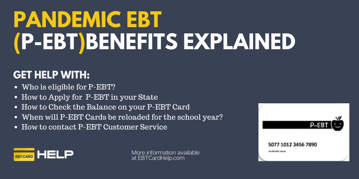 """P-EBT Benefits Application, Balance and Reload"""